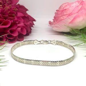 VINTAGE⚜️STERLING SILVER Italy Braid Link Bracelet